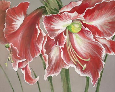 Maggie thompson artist flower painter and geisha artist for Painting large flowers in acrylic